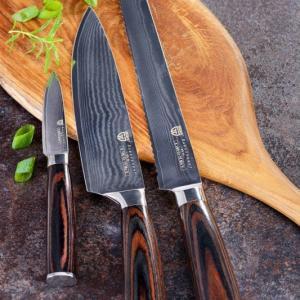 Gräwe Damaskus kniv gavesæt (4dele)